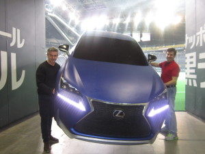 The flying Lexus NX at Sapporo Dome - Japan